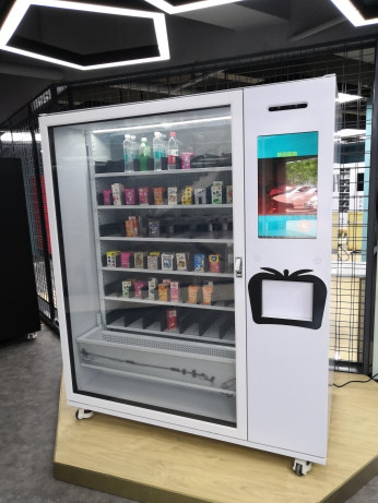 Fruit Saland Automatic Vending Machine 10 Adjustable Channels, large capacity robotic vending machine, Micron